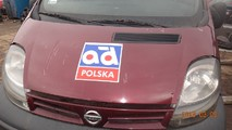 Trafic Vivaro Primastar maska przód 2001-