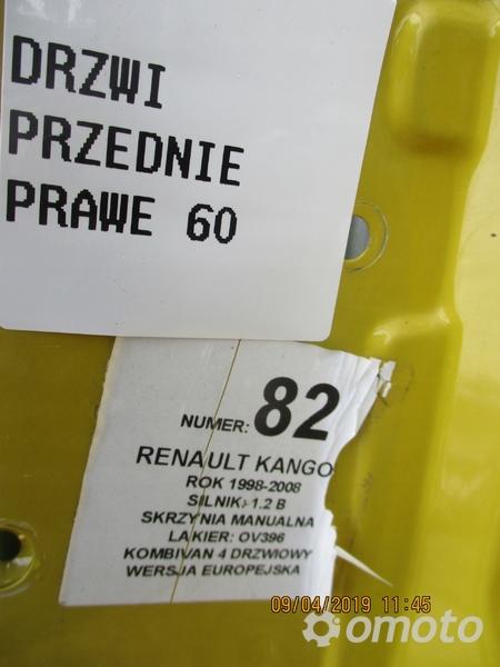 DRZWI PRZEDNIE PRAWE RENAULT KANGOO OV396