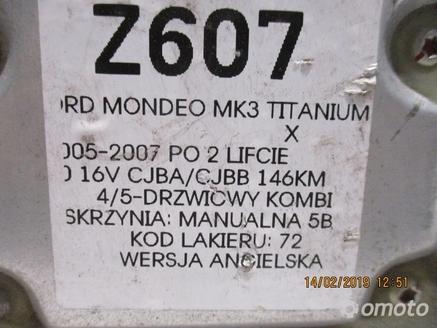MODUŁ AIRBAG FORD MONDEO MK3 1S7T14B056
