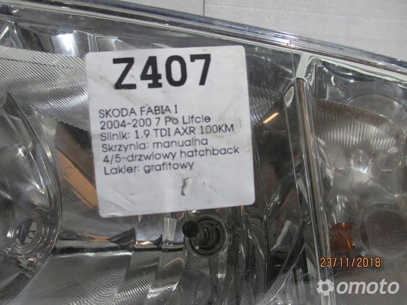 LAMPA PRZEDNIA PRAWA SKODA FABIA I 04-07 R.