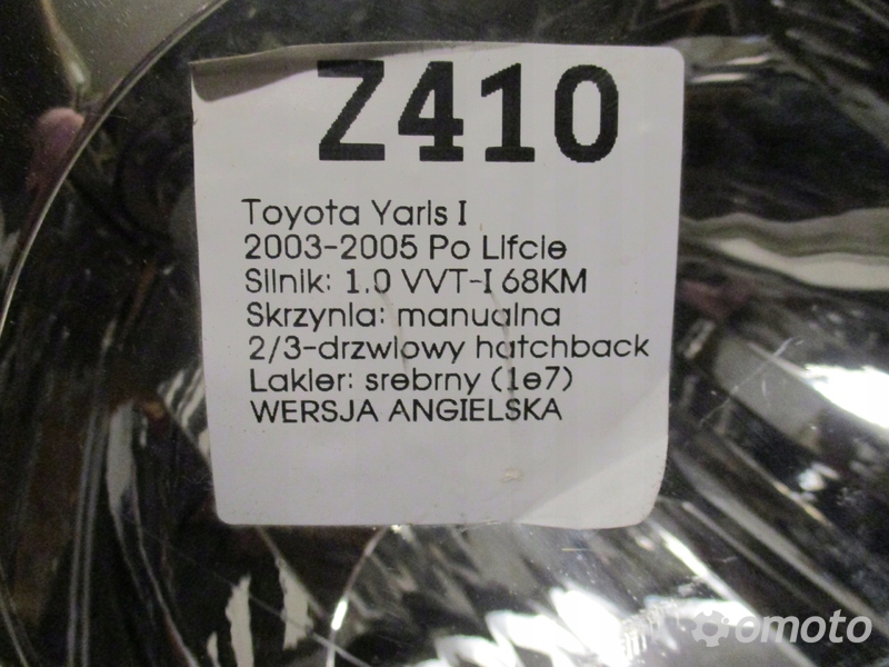 LAMPA PRZEDNIA PRAWA TOYOTA YARIS I 03-05
