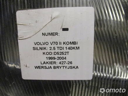 LAMPA PRZEDNIA PRAWA VOLVO V70 II 2.5 TDI 99-04 UK