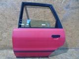 Audi 80 B4 drzwi tylne lewe czerwone
