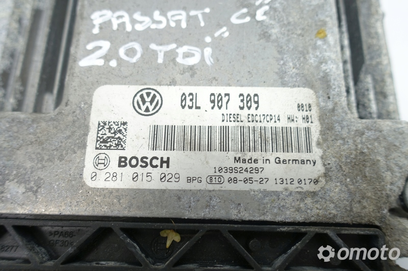 VW Passat CC 2.0 TDI KOMPUTER SILNIKA 0281015029