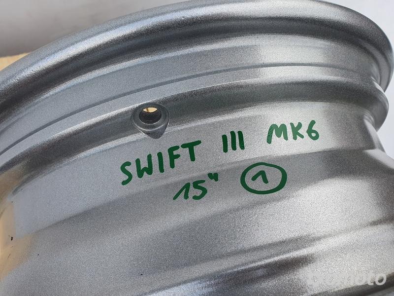 Suzuki Swift III MK6 FELGI ALUMINIOWE ALUFELGI 15