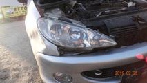 Peugeot 206 reflektor przód prawy lift 03-09 sw