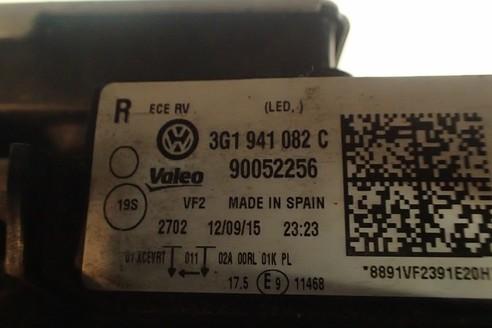 PASSAT B8 LAMPA PRAWA XENON LED PRZÓD 3G1941082C
