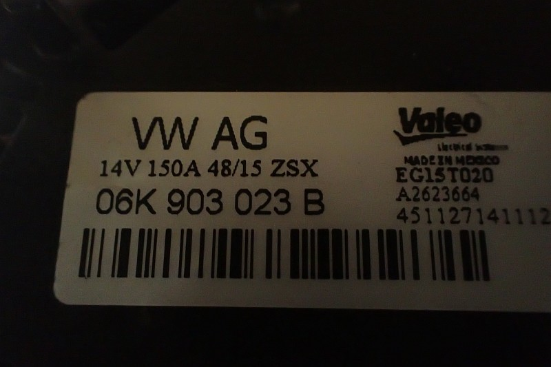 VW GOLF VII GTI ALTERNATOR 06K903023B