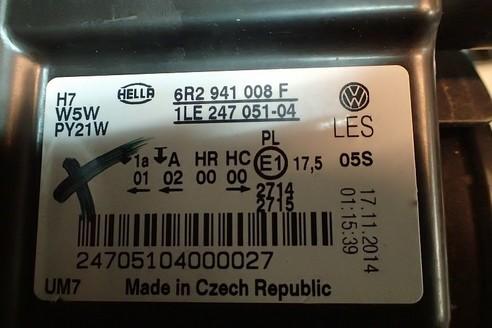 VW POLO 6R LAMPA PRZEDNIA PRAWA 6R2941008F ANGLIK