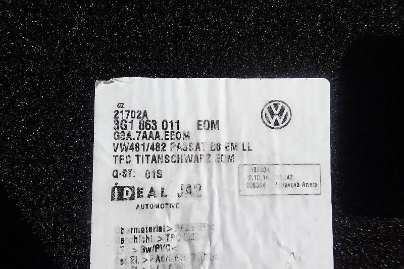 VW PASSAT B8 DYWANIKI WELUROWE 3G1863011A