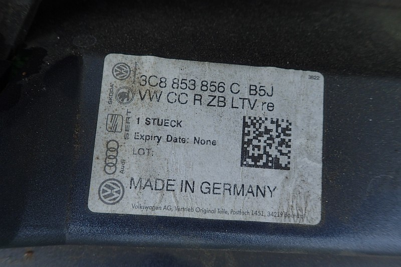 VW PASSAT CC LISTWA PROGOWA PRAWA 3C8853856C LB5J
