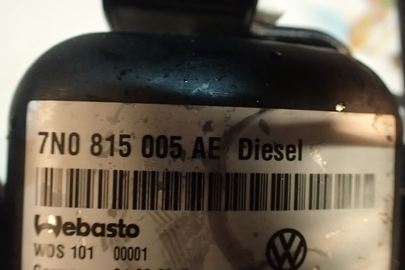 VW SHARAN 7N TDIDOGRZEWACZ WEBASTO 7N0815005AE