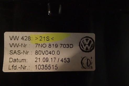 VW SHARAN 7N KRATKA NAWIEWU LEWA 7N0819703D