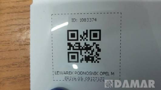 LEWAREK PODNOSNIK OPEL MERIVA 05r 09127172