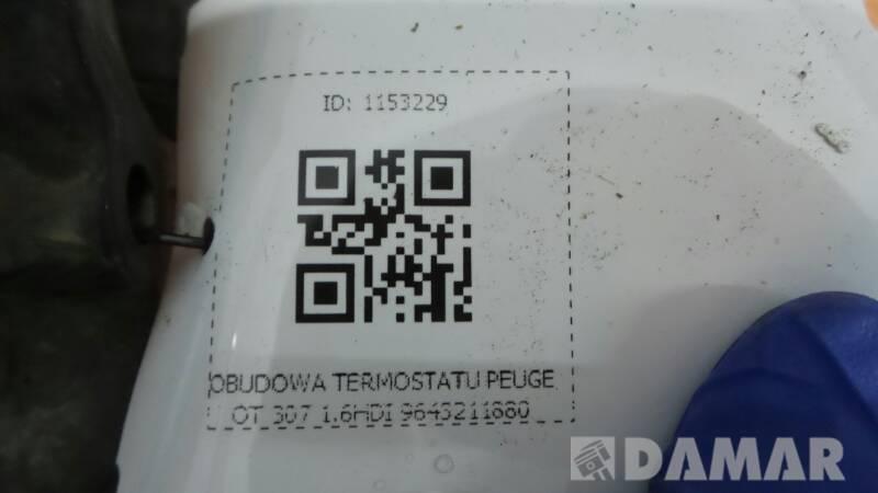 OBUDOWA TERMOSTATU PEUGEOT 307 1.6HDI 9643211880