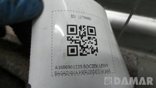 A1686901325 BOCZEK LEWY BAGAŻNIKA MERCEDES W168