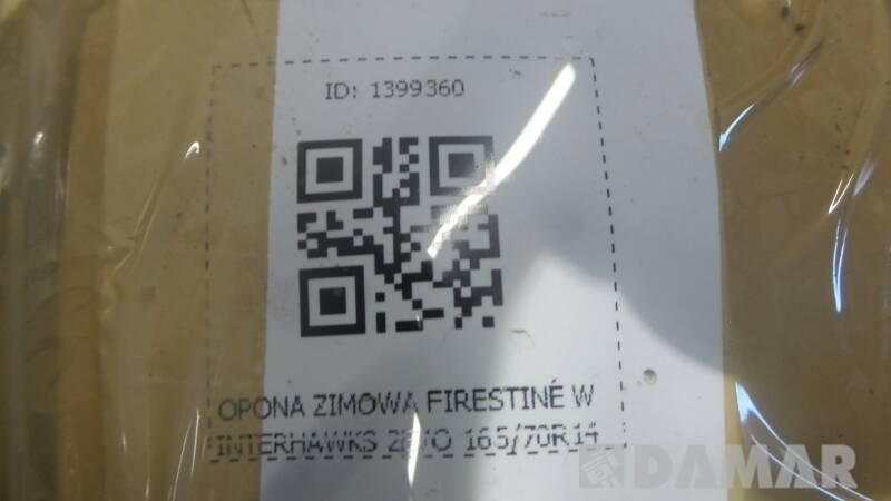 OPONA ZIMOWA FIRESTINE WINTERHAWKS 2EVO 165/70R14