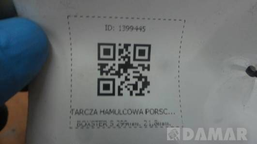 TARCZA HAMULCOWA PORSCHE BOXSTER S 299mm. 21,8mm.