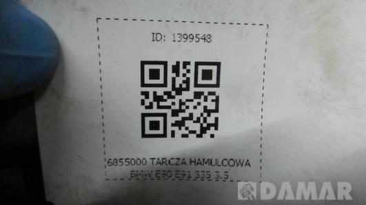 6855000 TARCZA HAMULCOWA BMW E90 E91 335 3.5