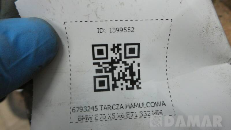 6793245 TARCZA HAMULCOWA BMW E70 X5 X6 E71 332 MM