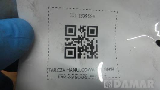 TARCZA HAMULCOWA TYL BMW E90 3.0 D 320 mm 19.4