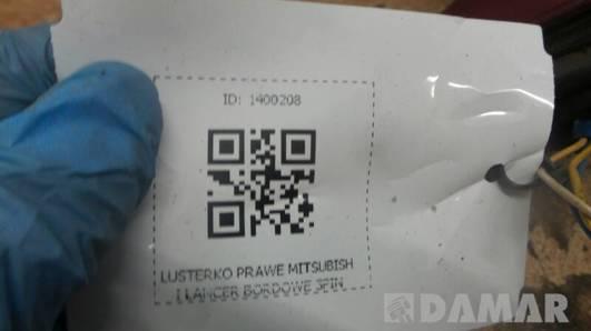 LUSTERKO PRAWE MITSUBISHI LANCER BORDOWE 3PIN