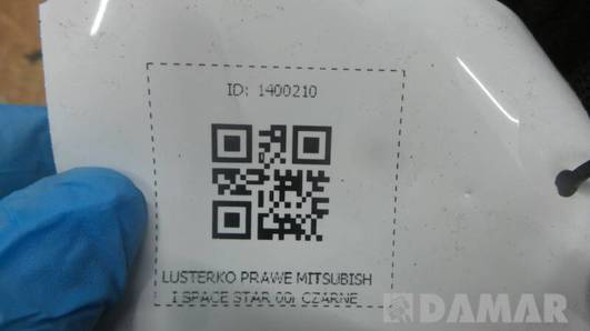 LUSTERKO PRAWE MITSUBISHI SPACE STAR 00r CZARNE