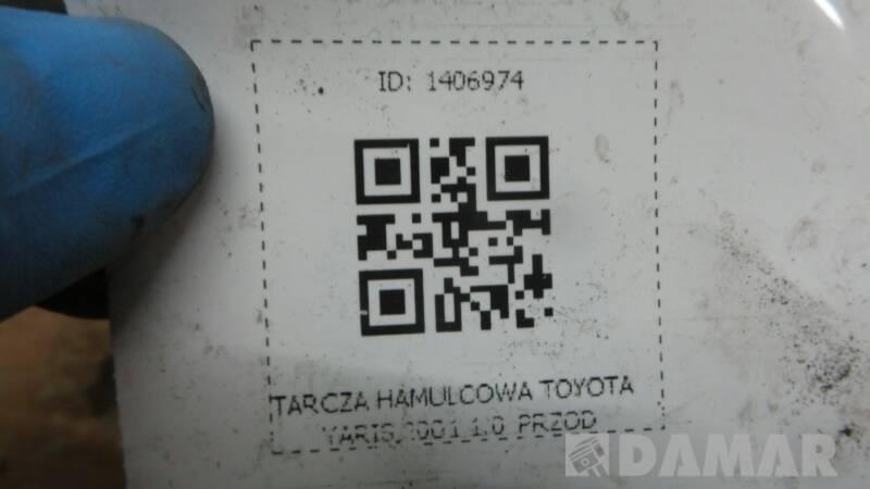 TARCZA HAMULCOWA PRZOD TOYOTA YARIS 2001 1.0