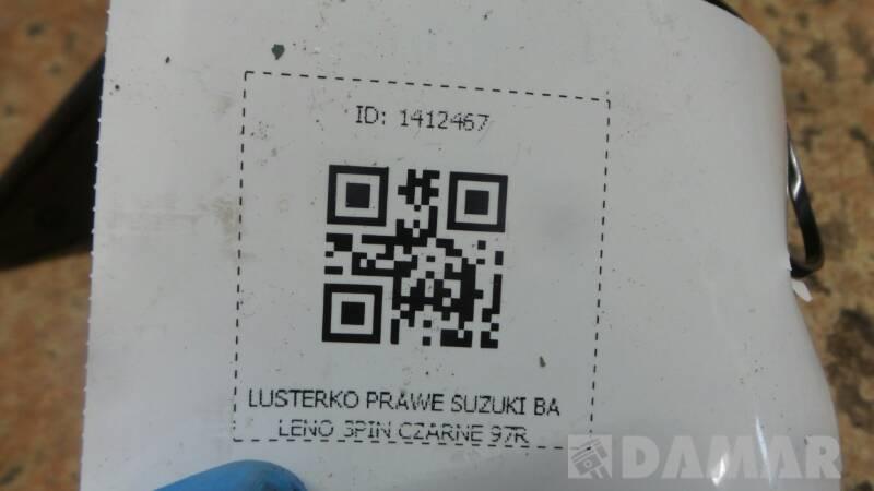 LUSTERKO PRAWE SUZUKI BALENO 3PIN CZARNE 97R