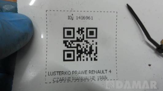 LUSTERKO PRAWE RENAULT R4 4 CZARNE MANUALNE 1988r