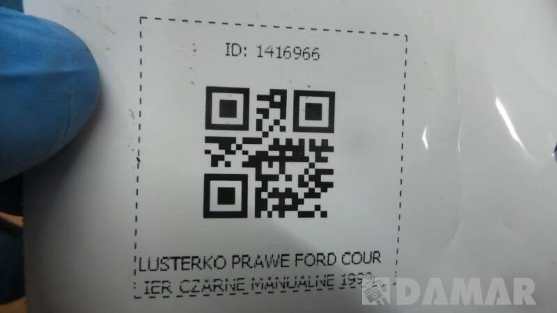 LUSTERKO PRAWE FORD COURIER CZARNE MANUALNE 1999r