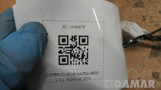 LUSTERKO LEWE MAZDA XEDOS 93r SREBRNE 5PIN