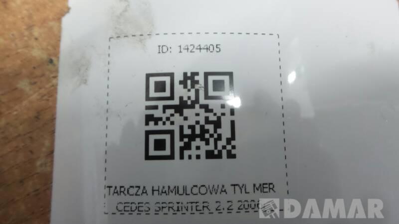 TARCZA HAMULCOWA TYL MERCEDES SPRINTER 2.2 906 06r