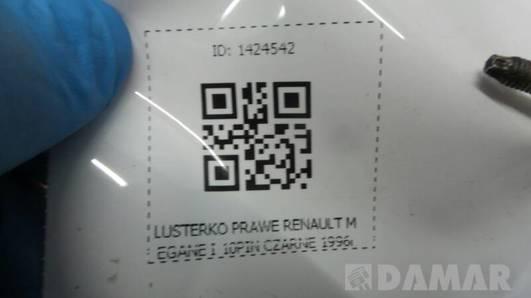 LUSTERKO PRAWE RENAULT MEGANE I 10PIN CZARNE 1996r