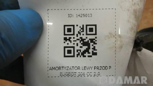 AMORTYZATOR LEWY PRZOD PEUGEOT 206 CC 2.0