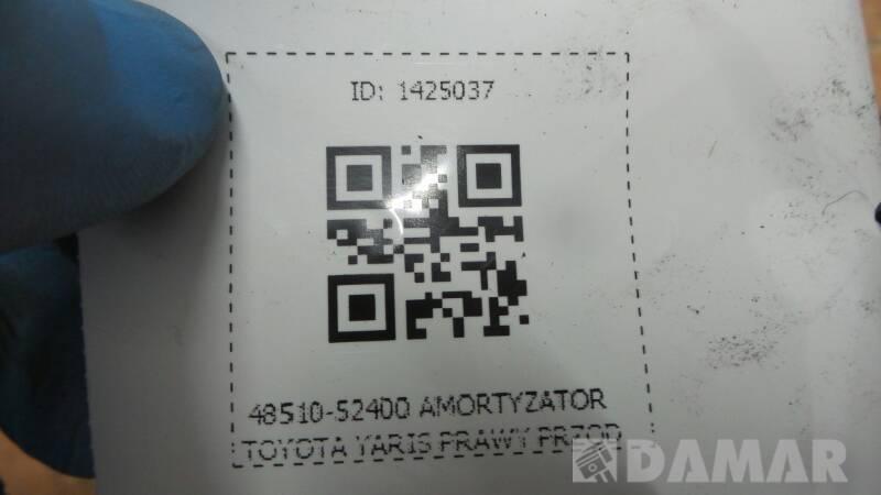 48510-52400 AMORTYZATOR PRAWY PRZOD TOYOTA YARIS