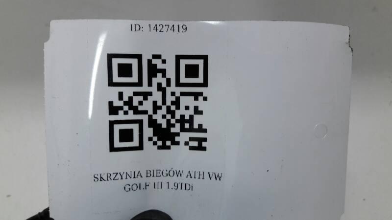 SKRZYNIA BIEGÓW ATH VW GOLF III 1.9TDi