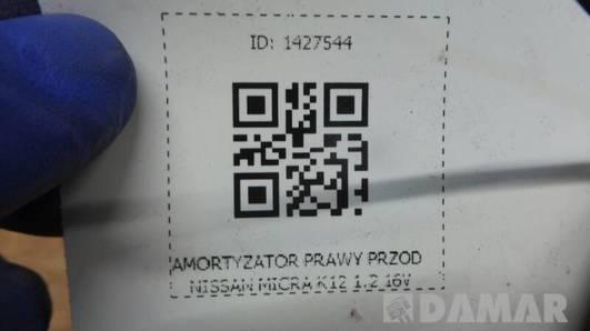 AMORTYZATOR PRAWY PRZOD NISSAN MICRA K12 1.2 16V