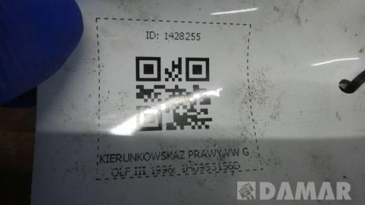 1H0953156D KIERUNKOWSKAZ PRAWY VW GOLF III 1996r