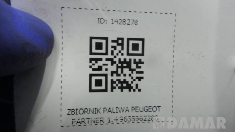 ZBIORNIK PALIWA PEUGEOT PARTNER 1.4 9635962280