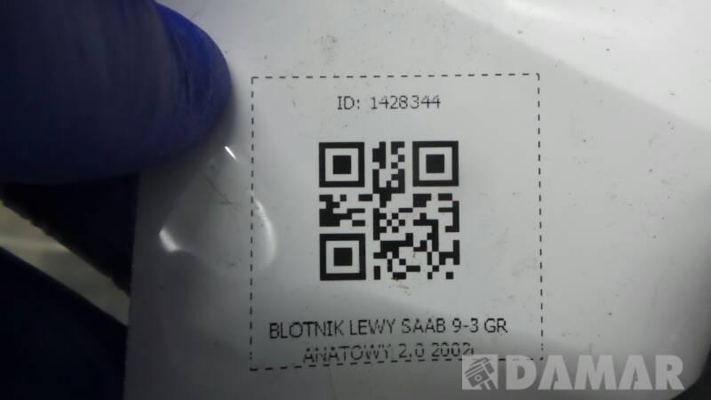 BLOTNIK LEWY SAAB 9-5 95 GRANATOWY 2.0 2002r