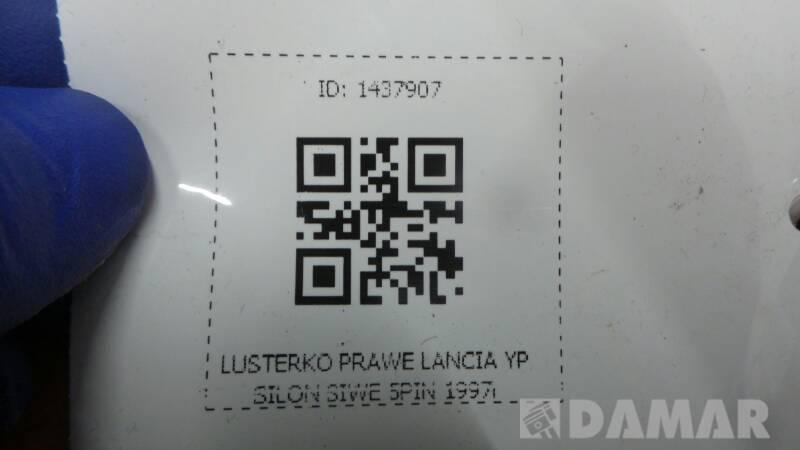 LUSTERKO PRAWE LANCIA YPSILON SIWE 5PIN 1997r