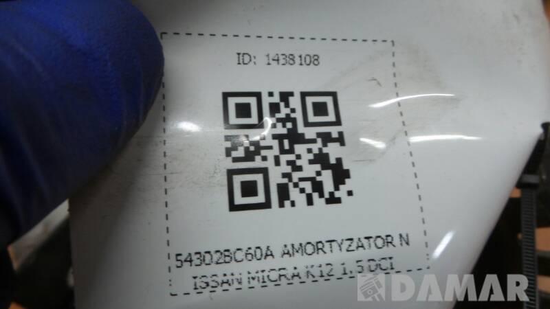 54302BC60A AMORTYZATOR NISSAN MICRA K12 1.5 DCI