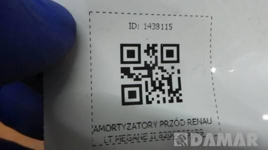 AMORTYZATORY PRZÓD RENAULT MEGANE II 8200335189