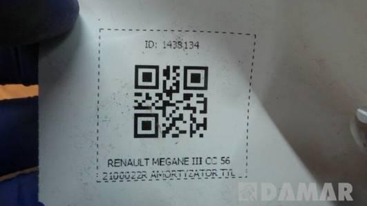 562100022R AMORTYZATOR TYL RENAULT MEGANE III CC
