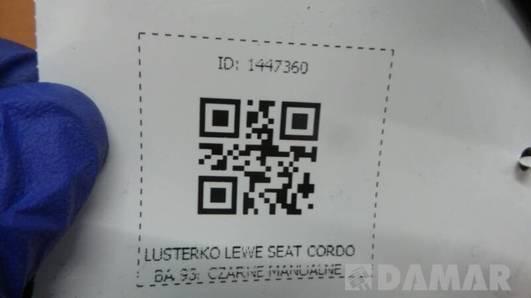 LUSTERKO LEWE SEAT CORDOBA 93r CZARNE MANUALNE