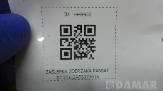 3AF807441A ZASLEPKA ZDERZAKA PASSAT B7 TYL