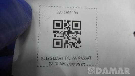 SLIZG LEWY TYL VW PASSAT B8 3G5807356 2014r