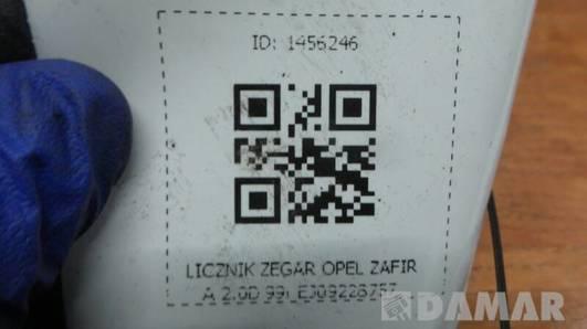 EJ09228757 LICZNIK ZEGAR OPEL ZAFIRA 2.0D 99r