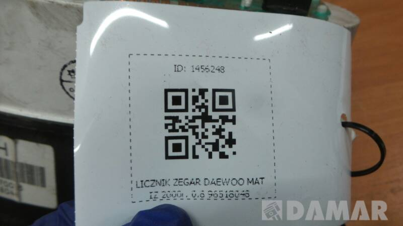 96518048 LICZNIK ZEGAR DAEWOO MATIZ 2000r. 0.8